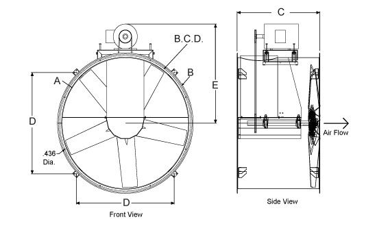 Dimensional Drawing for the TDB Model